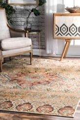 Traditional Doreen Medallion Area Rug, 8x11