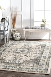 Gray Verona Medallion Area Rug, 5x7