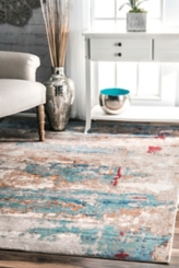 Blue Delisa Abstract Area Rug, 8x11