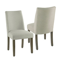 Dove Curved Back Dining Chairs Set Of 2
