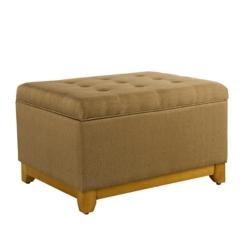 Textured Brown Storage Ottoman