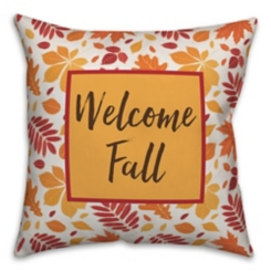 Welcome Fall Double Sided Outdoor Pillow