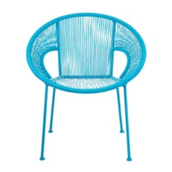 Turquoise Wicker Outdoor Leisure Chair