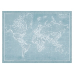 Explorer World Map Giclee Canvas Art Print