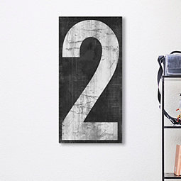 Two Retro Numbers Giclee Canvas Art Print