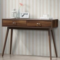 Montage Mid-Century Walnut Desk with Drawers