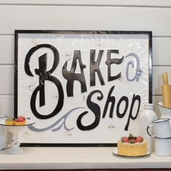 Metal Bake Shop Sign