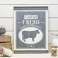 Wooden Farm Fresh Dairy Sign