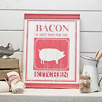 Wooden Bacon Sign