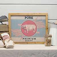 Wooden Pork Sign