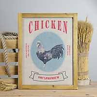 Wooden Chicken Sign