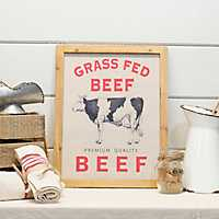 Wooden Beef Sign