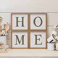 Wood Framed Home Plaque