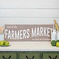 Eat At The Farmer's Market Wooden Sign