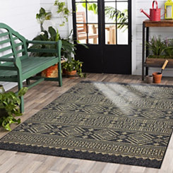 greek key sun shower outdoor area rug 5x8 - Patio Rugs