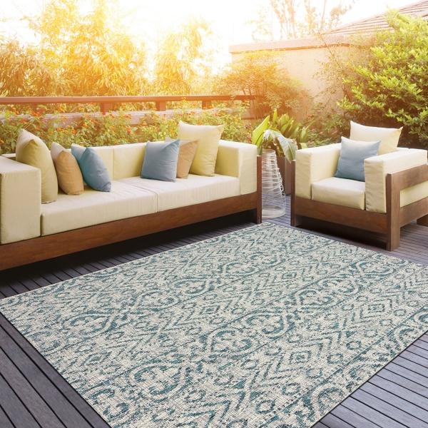 Superbe Azure Terrace Sun Shower Outdoor Area Rug, 5x8