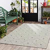 Solitaire Sun Shower Outdoor Area Rug, 5x8