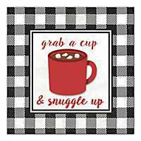 Grab A Cup and Snuggle Up Canvas Art Print