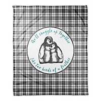 We'll Snuggle Up Together Plaid Fleece Throw