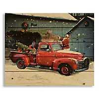 Santa's Vintage Truck Pallet Plaque