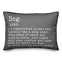 Gray Dog Definition Accent Pillow