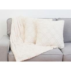 White Lattice Mia 3-pc. Pillows and Throw Set