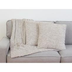 Gray Ruffle Rachel 3-pc. Pillows and Throw Set
