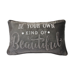 Pewter Own Kind of Beautiful Studded Accent Pillow