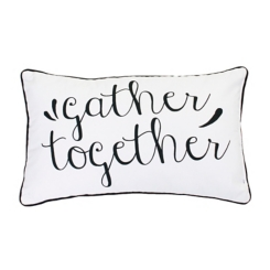 Black and White Gather Together Accent Pillow