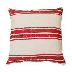 Red Stripe Dolly Farm Pillow