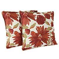 Spice and Gold Floral Chandra Pillows, Set of 2