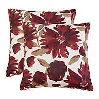 Tawny and Port Floral Chandra Pillows, Set of 2
