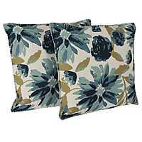 Blue Floral Chandra Pillows, Set of 2