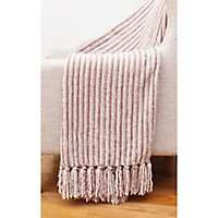 Pink Caiden Chenille Fringe Throw