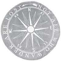 Not All Who Wander Are Lost Compass Fleece Throw