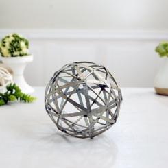Galvanized Sphere, 6 in.