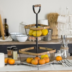 Two Tiered Basket Stand