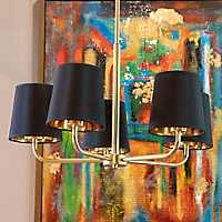 Evie 5-Light Plated Metal Chandelier