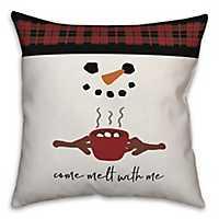 Come Melt with Me Snowman Pillow