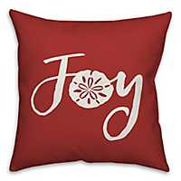 Red and White Joy Sand Dollar Pillow