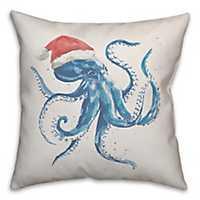 Blue Santapus Christmas Pillow
