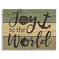 Joy to the World Anchor Pallet Plaque