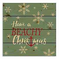 Have a Beachy Christmas Anchor Pallet Plaque