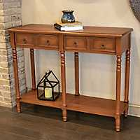 Ellie Light Walnut 2-Drawer Console Table