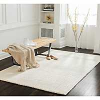 White Freya Area Rug, 5x8