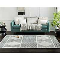 Black and White Diamond Oboto Area Rug, 5x8