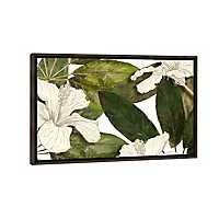 Hibiscus Leaves on White Framed Art Print