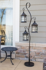 Lantern Post with Removable Lanterns