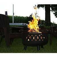 Black Metal Lattice Fire Pit