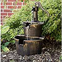 Barrel 2-Tiered Fountain